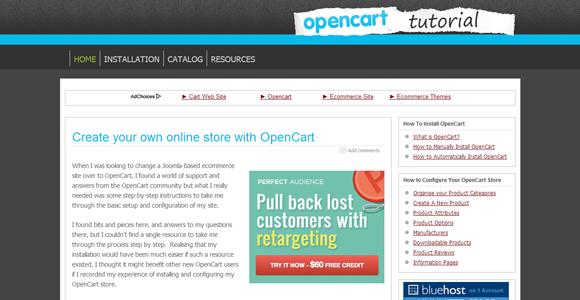 opencart tutorials