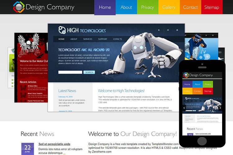 zDesignCompany Free Html5 Website Template