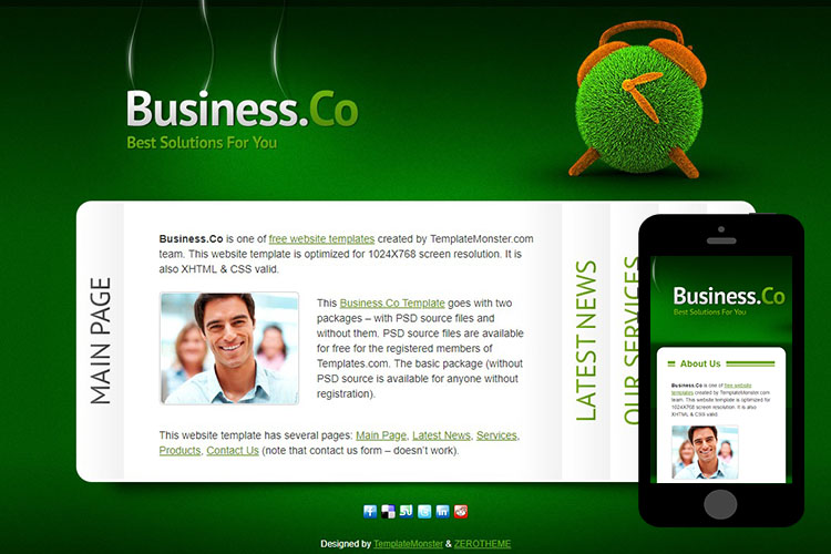zBusiness Free Html5 Website Template
