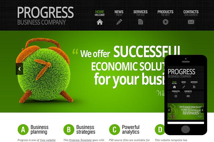 zProgress – Free Responsive Html5 Theme