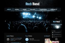 zRockBand Free Html5 Website Template