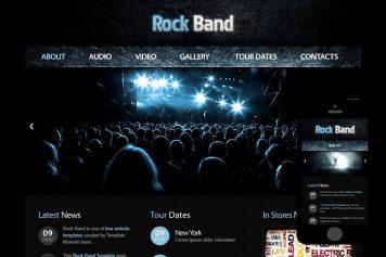 zRockBand Free Html5 Website Template