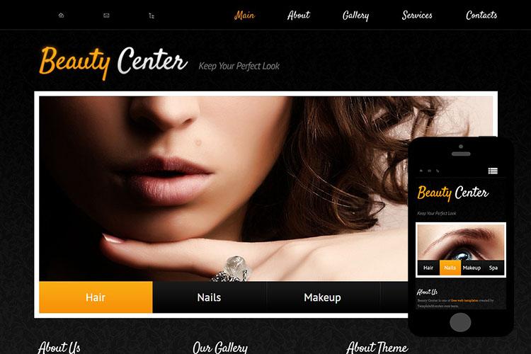 zBeautyCenter Free Html5 Website Template