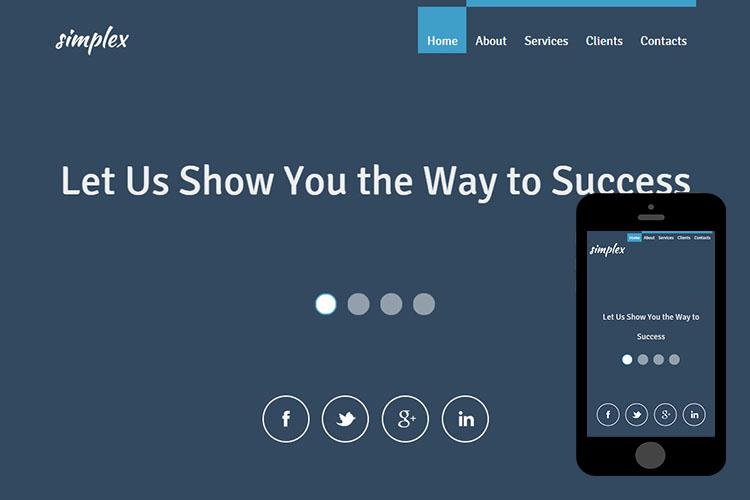 zSimplex Free Html5 Website Template