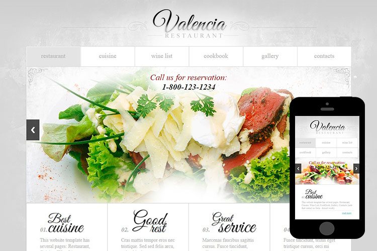 zValencia Free Html5 Website Template