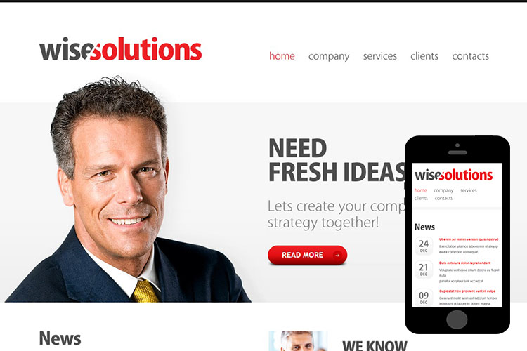 zWiseSolutions – Free Responsive Html5 Theme