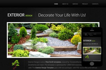 zExterior Free Html5 Website Template
