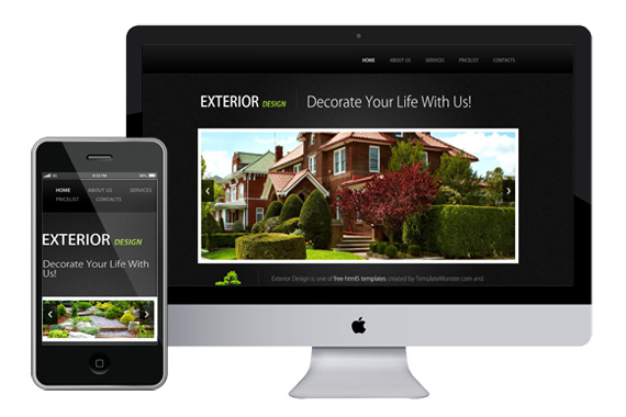 Zexterior free responsive html5 theme zerotheme for Interior design responsive website templates edge free download