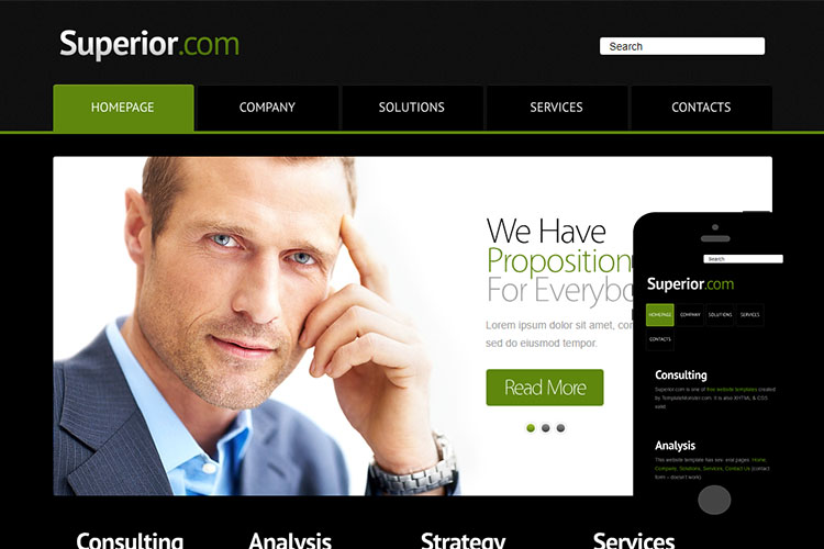 zSuperior Free Html5 Website Template