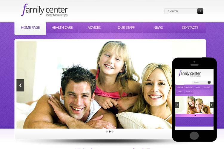 zFamilyCenter Free Html5 Website Template
