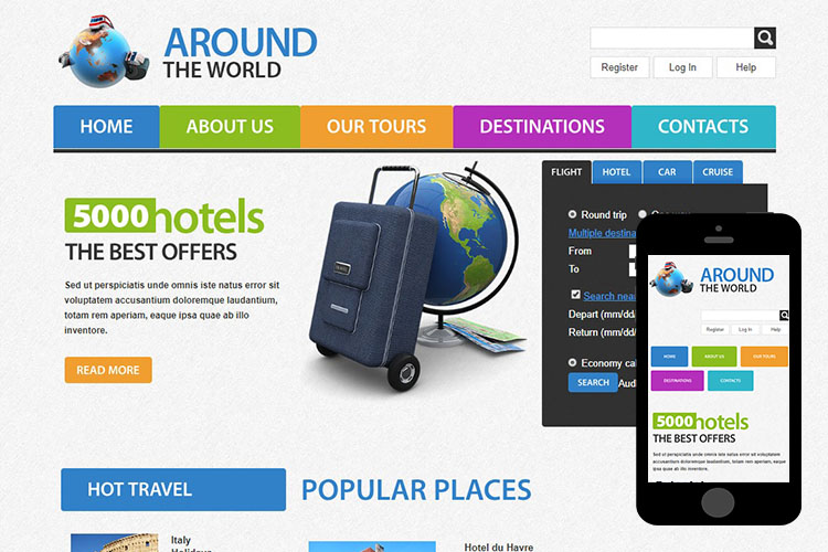 zAroundTravel Free Html5 Website Template