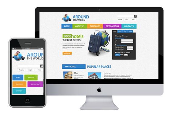 zAroundTravel Free responsive html5 css3 themes