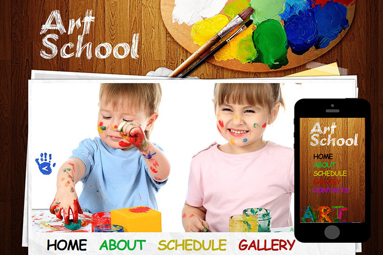 zArtSchool Free Html5 Website Template