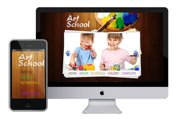 zArtSchool free responsive html5 css3 templates