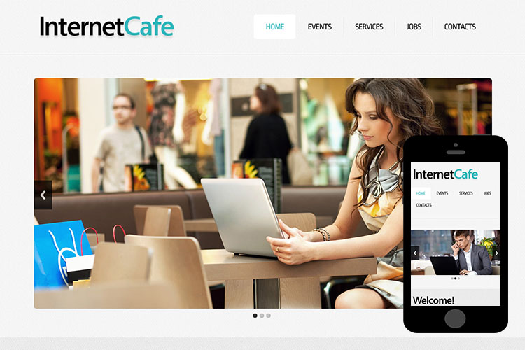 zCafe Free Html5 Website Template
