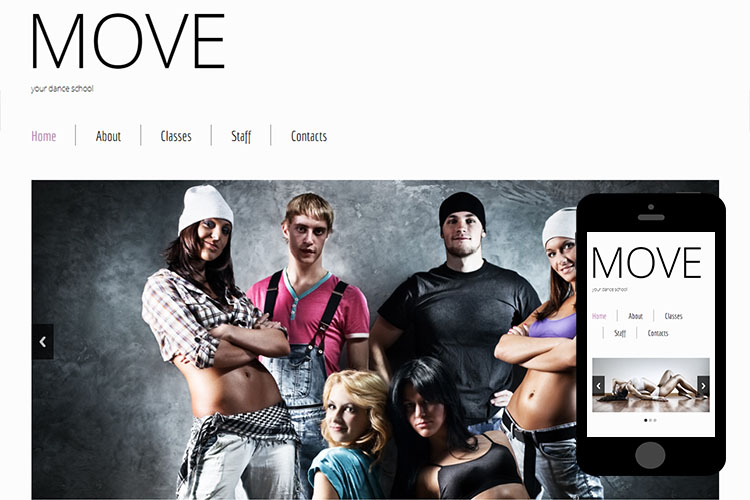 zMove Free Html5 Website Template