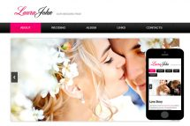 zWeddingPage Free Html5 Website Template