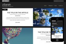 zSarah Free Html5 Website Template