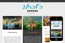 zAvada Free Html5 Website Template