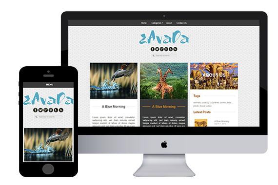 zAvada Free responsive html5 templates