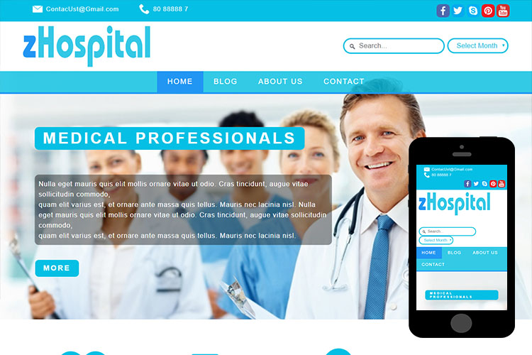 zHospital – Free Responsive Html5 Template