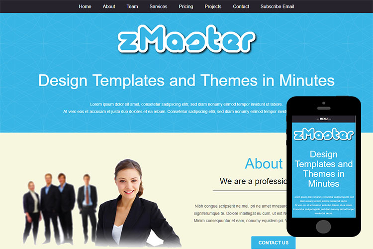 zMaster – Free Responsive Html5 Template