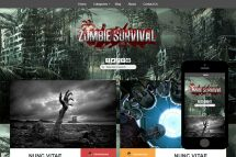 zZombie Free Html5 Website Template