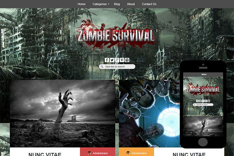 zZombie Free Html5 Website Template