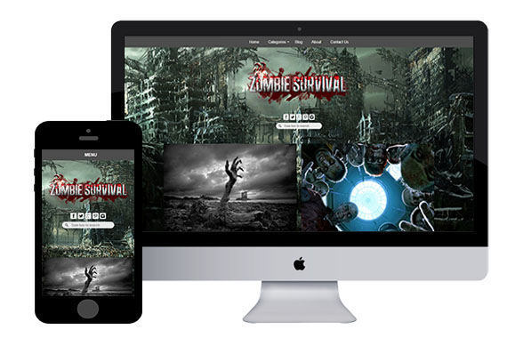 zZombie – Free Responsive Html5 Template