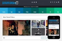 zFanVideo Free Html5 Website Template