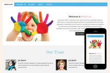 zBabyCare Free Html5 Website Template