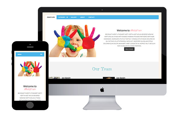 zBabyCare Free Responsive Html5 Templates