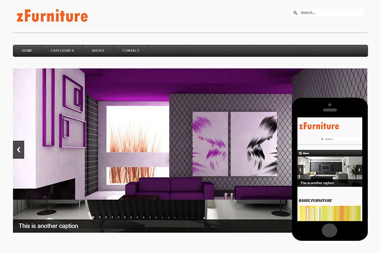 zFurniture – Free Responsive Html5 Template