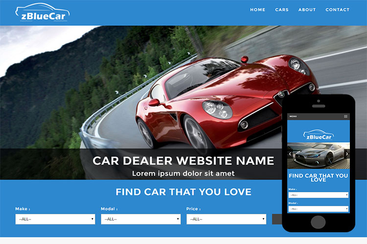 zBlueCar Free Html5 Website Template