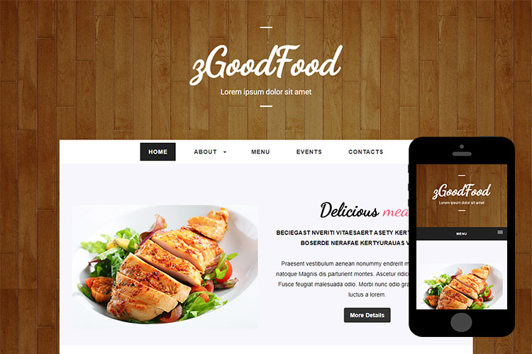 zGoodFood – Free Responsive Html5 Template
