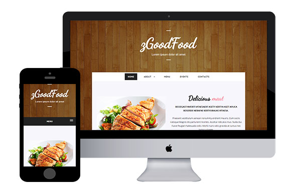 Zgoodfood free responsive html5 template zerotheme for What is a responsive template