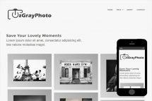 zGrayPhoto Free Html5 Website Template
