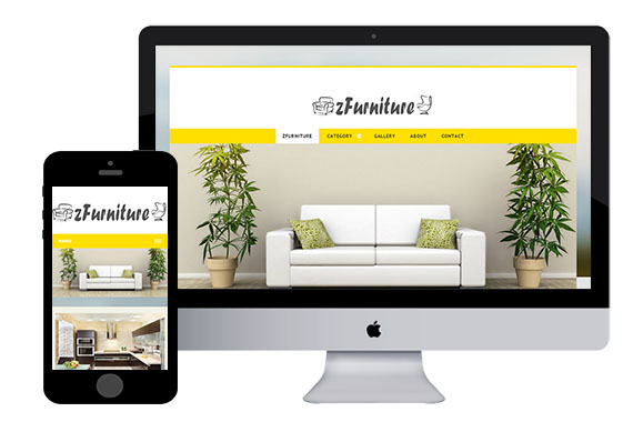 zfurniture2 free responsive html5 template zerotheme. Black Bedroom Furniture Sets. Home Design Ideas
