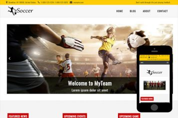 zSoccer Free Html5 Website Template