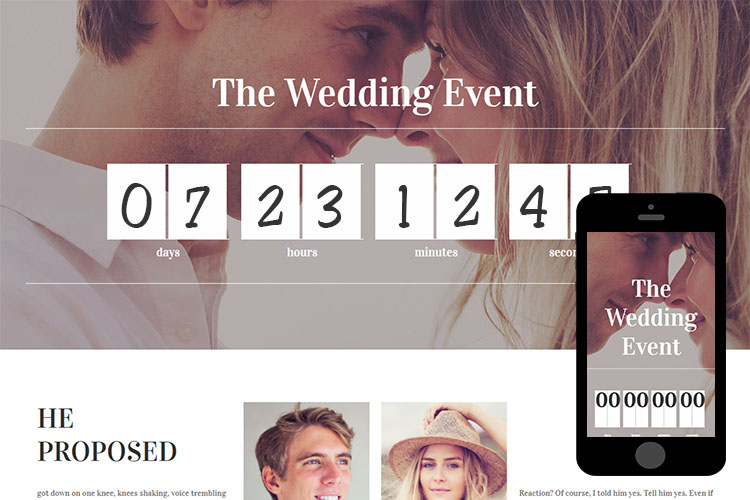 zWeddingEvent – Free Responsive Html5 Template