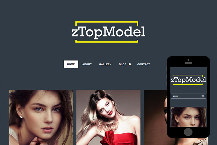 zTopModel – Free Responsive Html5 Template