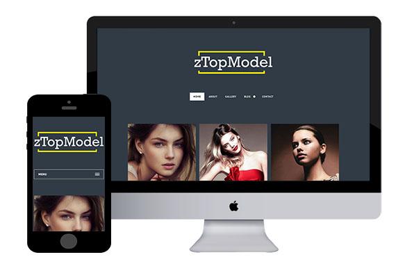 zTopModel Free Responsive Html5 Templates