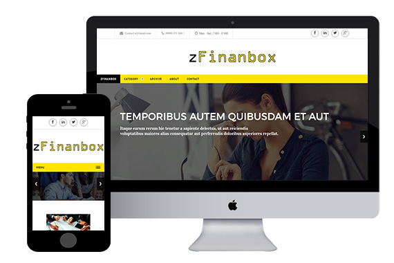 zFinanbox Free Corporation Responsive Html5 Template