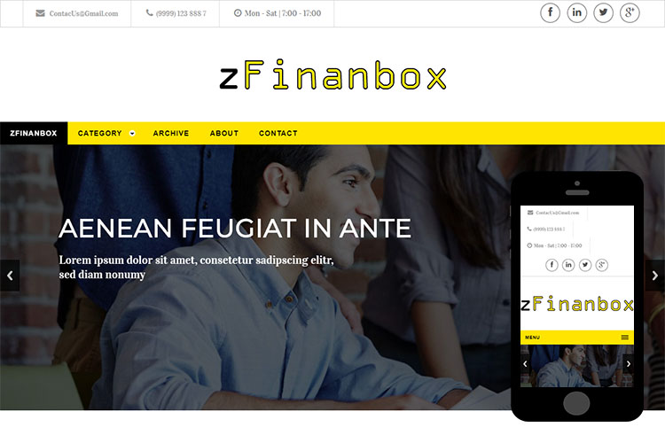 zFinanbox Free Html5 Website Template