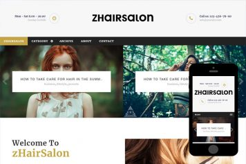 zHairSalon Free Html5 Website Template