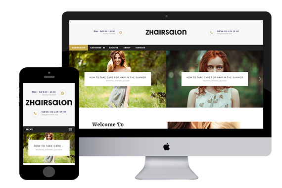 zhairsalon free responsive html5 template zerotheme. Black Bedroom Furniture Sets. Home Design Ideas
