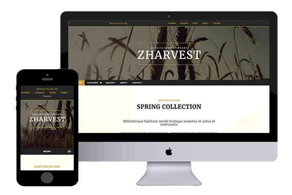 zHarvest Free Html5 Template