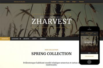 zHarvest Free Html5 Website Template