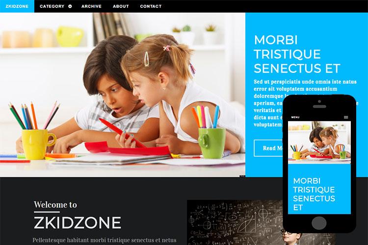 zKidzone – Free Responsive Html5 Template