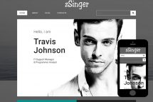 zSinger Free Html5 Website Template